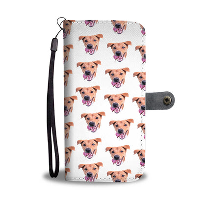 Custom Dog RFID Wallet Phone Case for Rosie Pattin