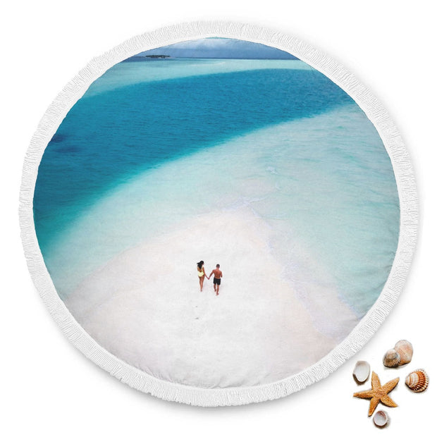 Personalized Round Beach Blanket - Get Set Style Metro