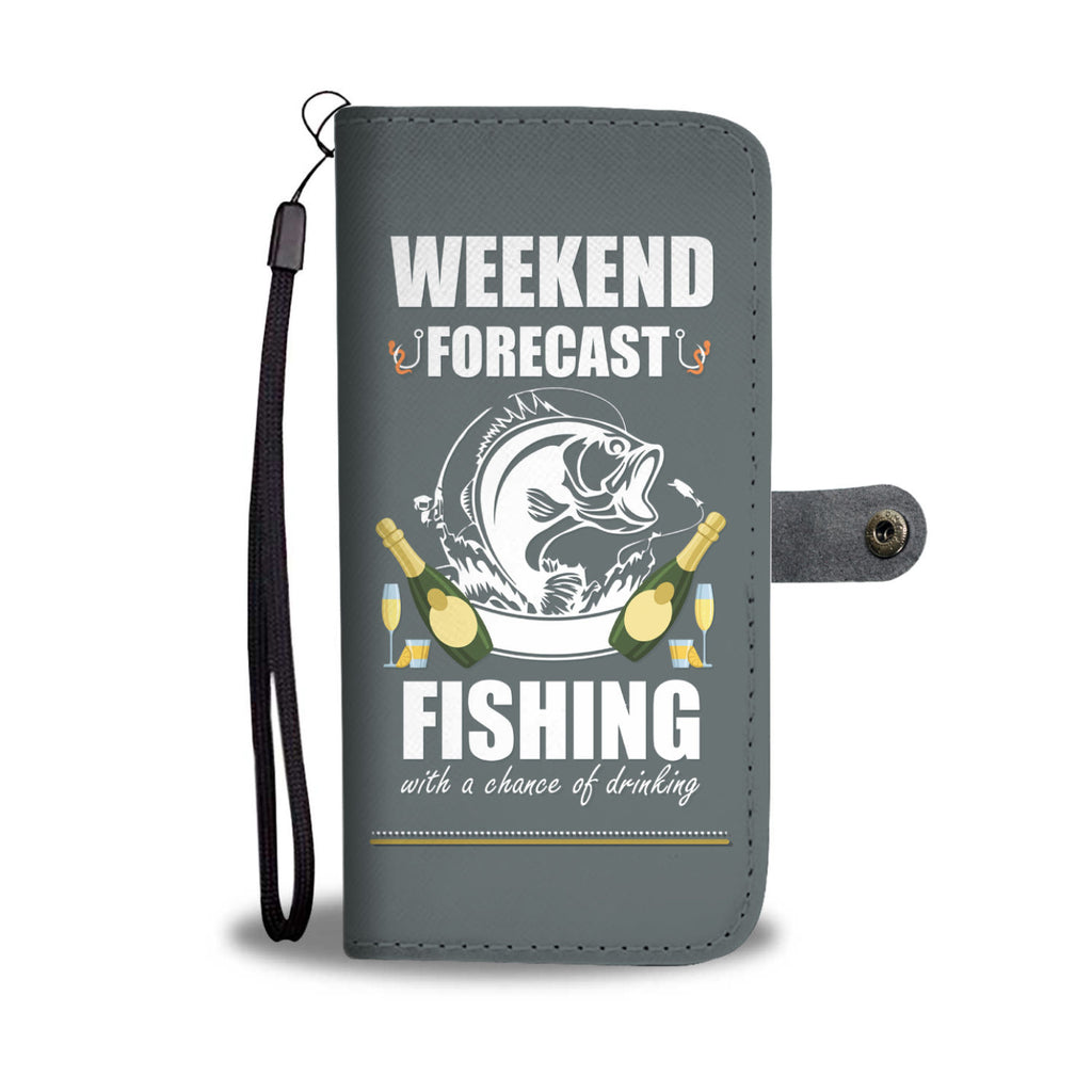 Weekend Forecast Fishing Wallet Phone Case - Get Set Style Metro