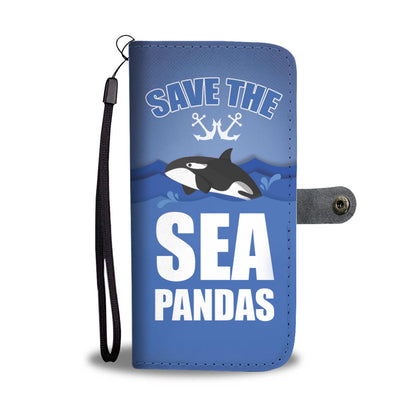 Save The Sea Pandas Whales RFID Wallet Phone Case