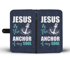 Jesus The Anchor RFID Wallet Phone Case
