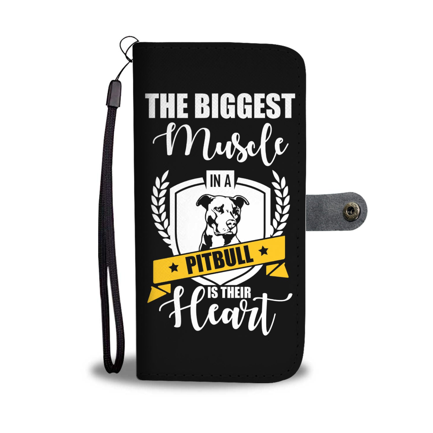 Biggest Pitbull Muscle RFID Wallet Phone Case