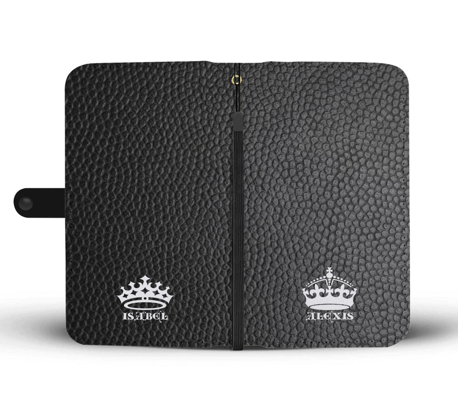 King And Queen (Customized Names) Wallet Phone Case - Get Set Style Metro
