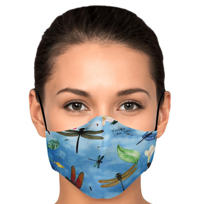 Dragonfly Garden Fashion Face Mask With PM2.5 Carbon Filter - Get Set Style Metro