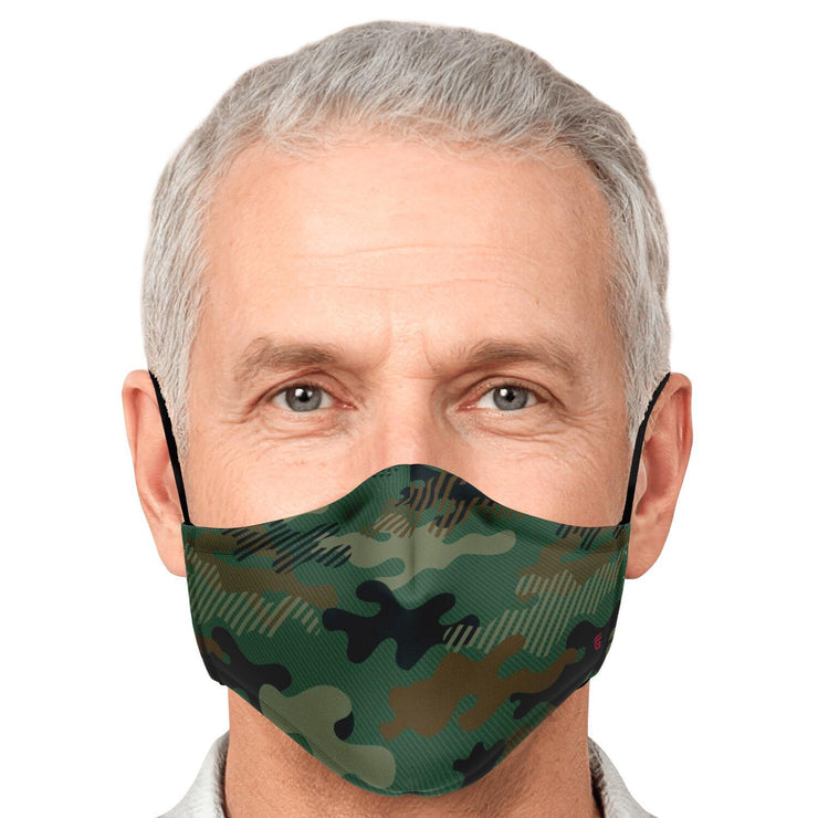 Modern Green Camouflage Fashion Face Mask With PM 2.5 Carbon Filter - Get Set Style Metro