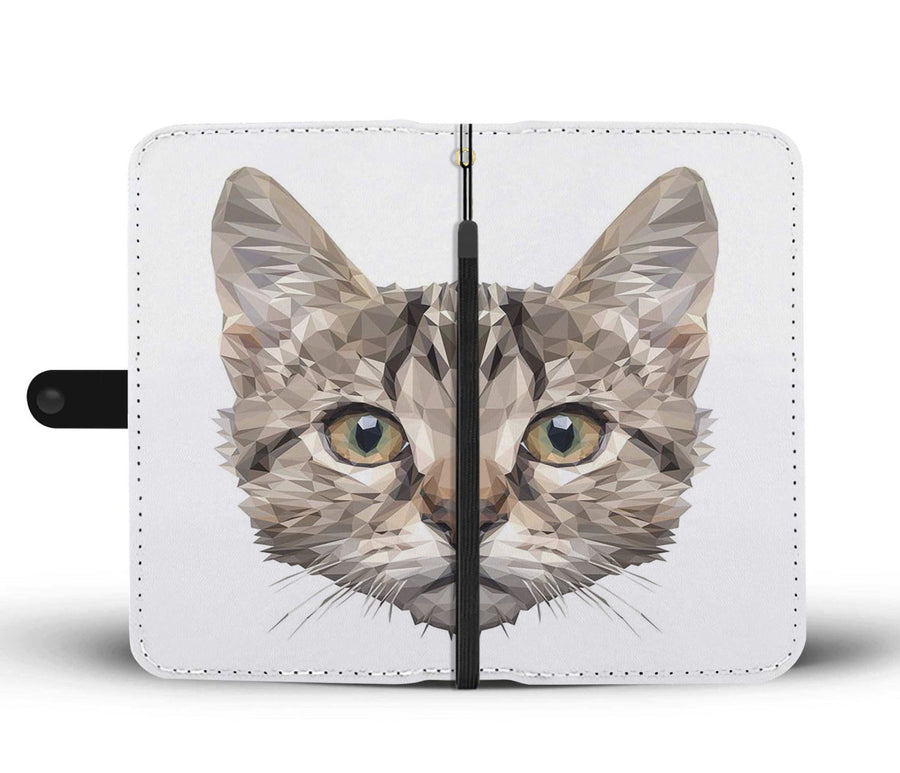 Awesome Vector Cat Whole Face Wallet Phone Case - Get Set Style Metro