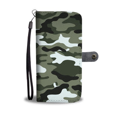 Camouflage Army Pattern 1 RFID Wallet Phone Case