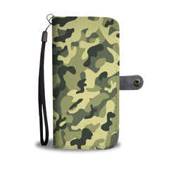 Camouflage Army Pattern 3 RFID Wallet Phone Case