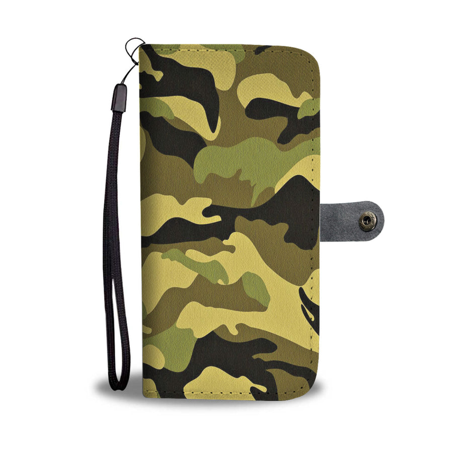 Camouflage Army Pattern 4 Wallet Phone Case - Get Set Style Metro