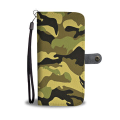 Camouflage Army Pattern 4 RFID Wallet Phone Case