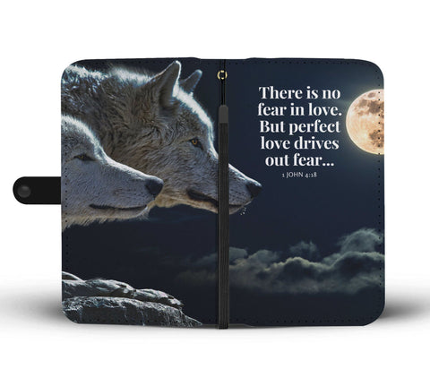 Awesome Love and Fear Wolf Couple Wallet Phone Case - Get Set Style Metro