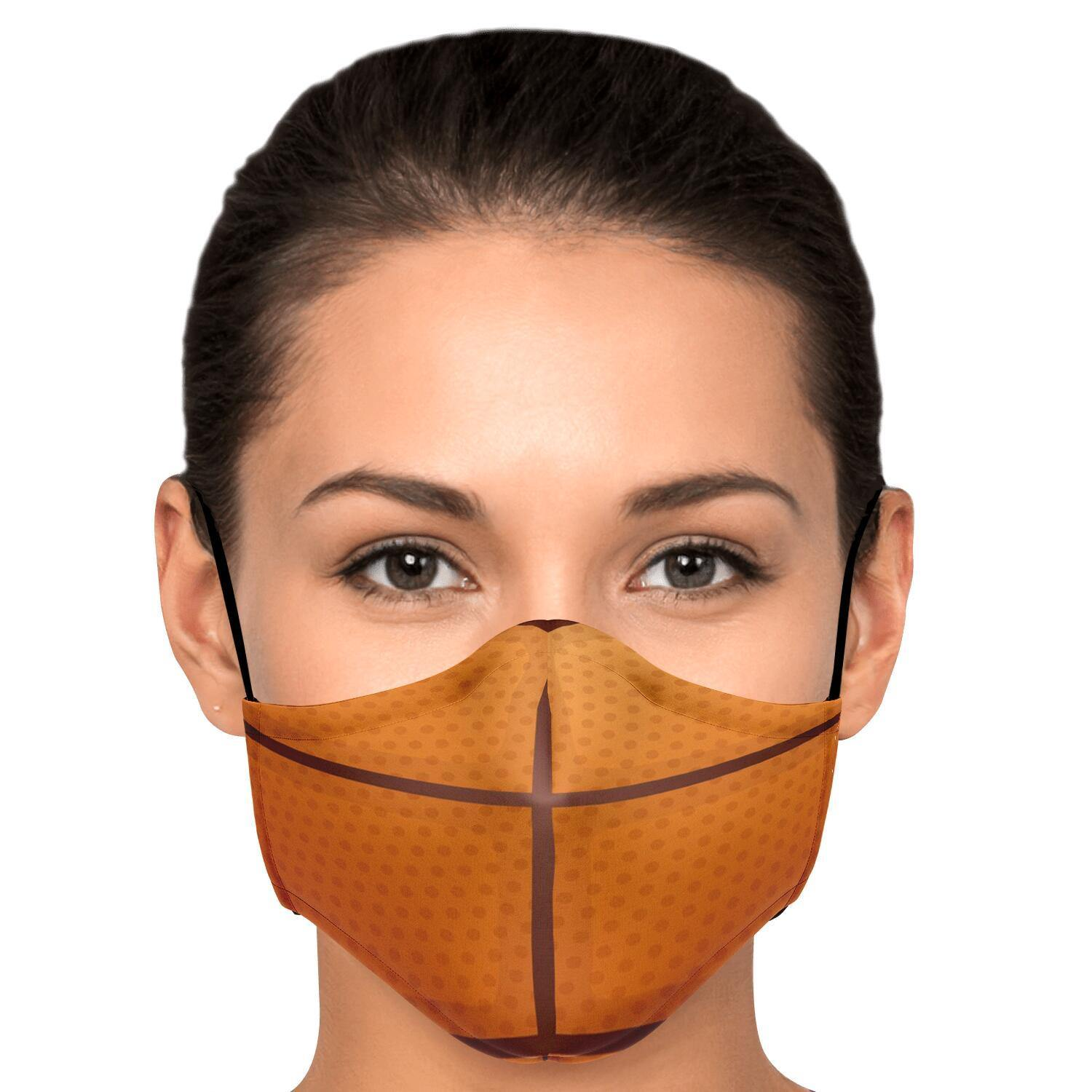 Basketball Fashion Face Mask With PM2.5 Carbon Filter - Get Set Style Metro