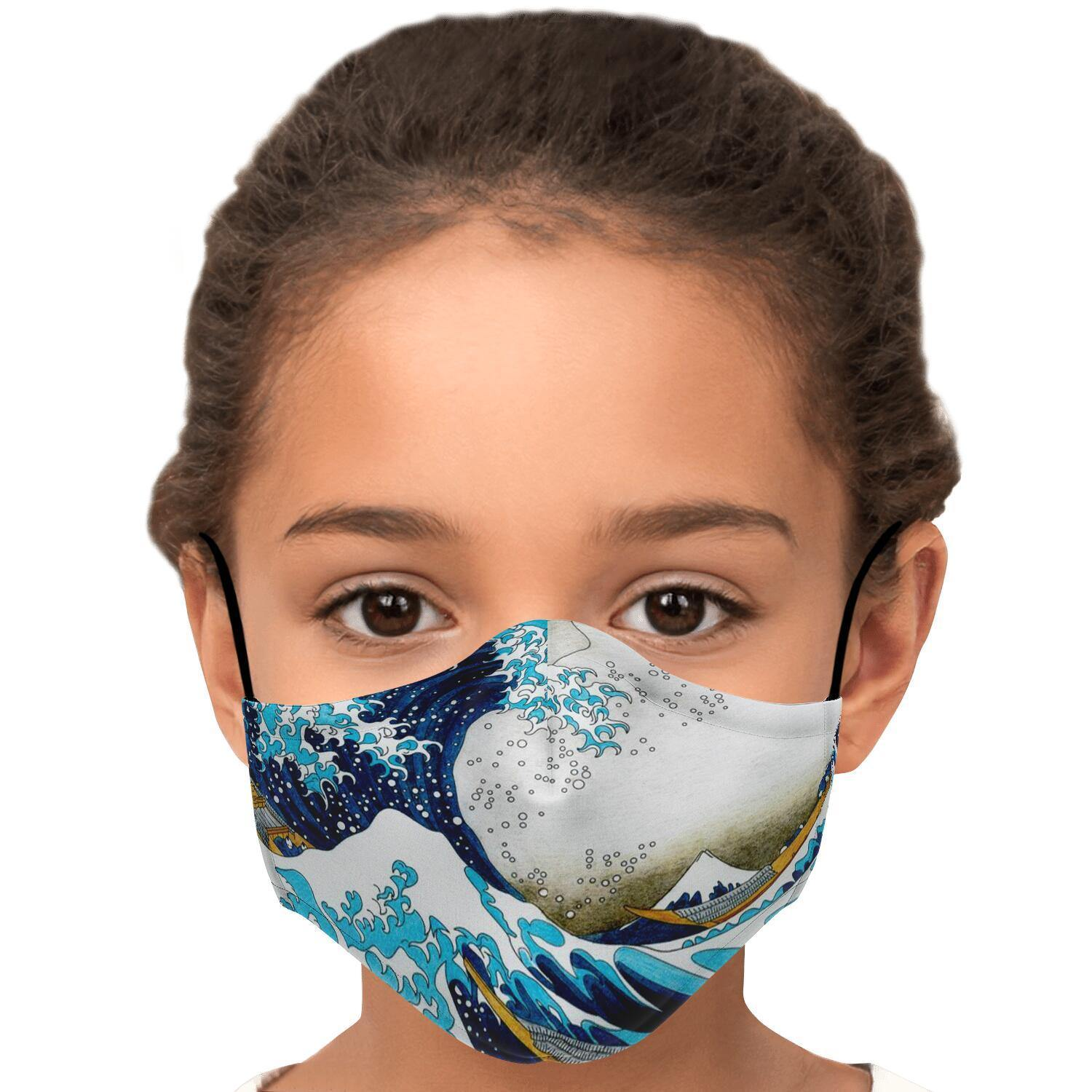 The Great Wave Fashion Face Mask With PM2.5 Carbon Filter - Get Set Style Metro