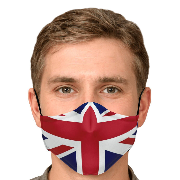 UK Flag Fashion Face Mask With PM2.5 Carbon Filter - Get Set Style Metro