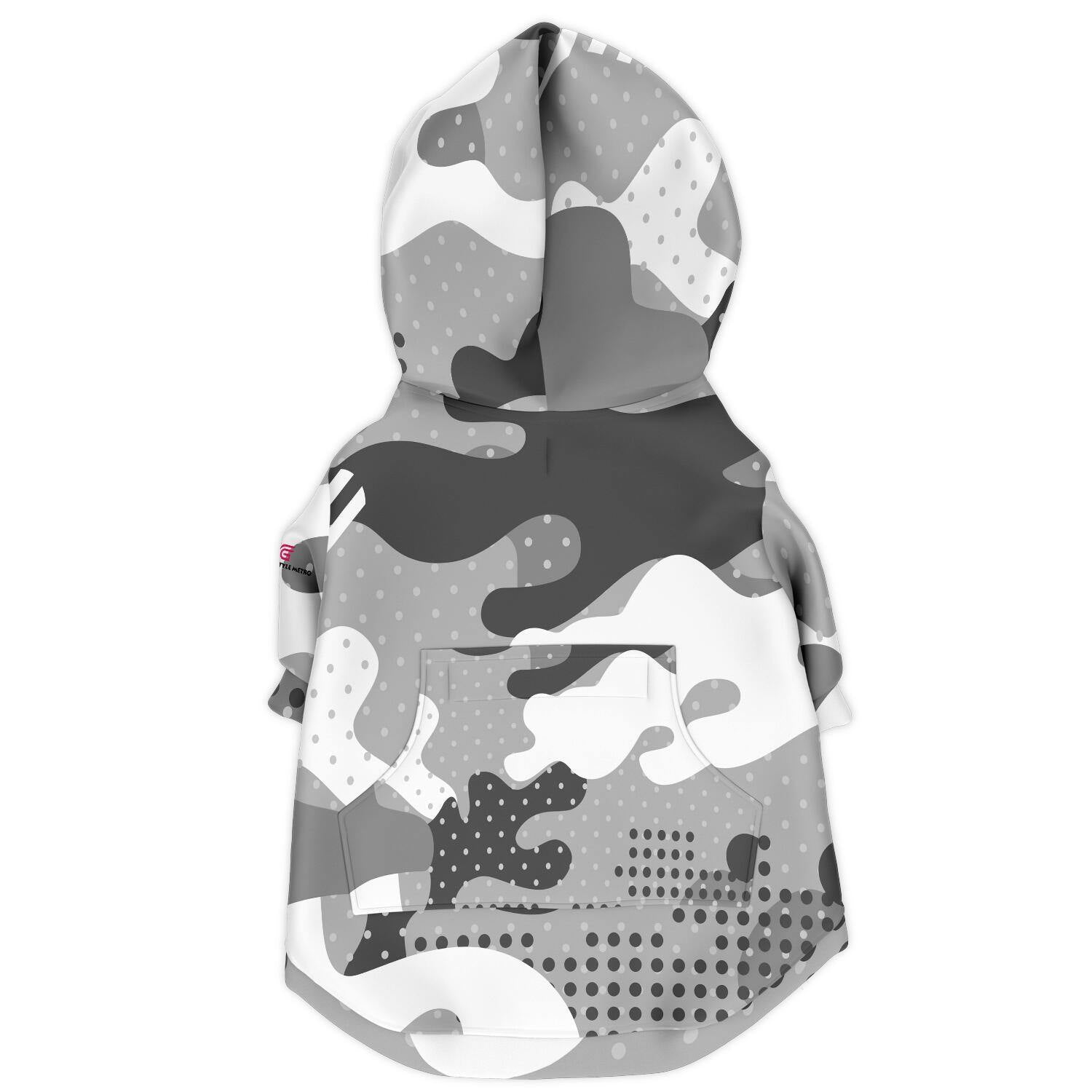 Gray Camouflage Fashion Dog Zip-Up Hoodie - AOP - Get Set Style Metro