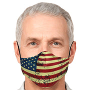 American Flag Fashion Face Mask With PM2.5 Carbon Filter - Get Set Style Metro
