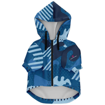 Blue Camouflage Fashion Dog Zip-Up Hoodie - AOP - Get Set Style Metro