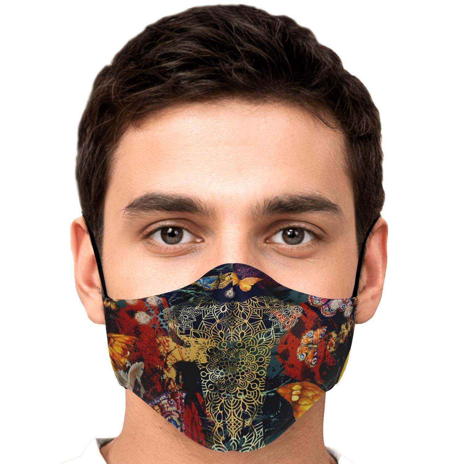 Elephant Spirit Fashion Face Mask With PM2.5 Carbon Filter - Get Set Style Metro