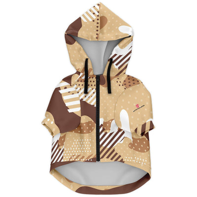 Beige Camouflage Fashion Dog Zip-Up Hoodie - AOP - Get Set Style Metro