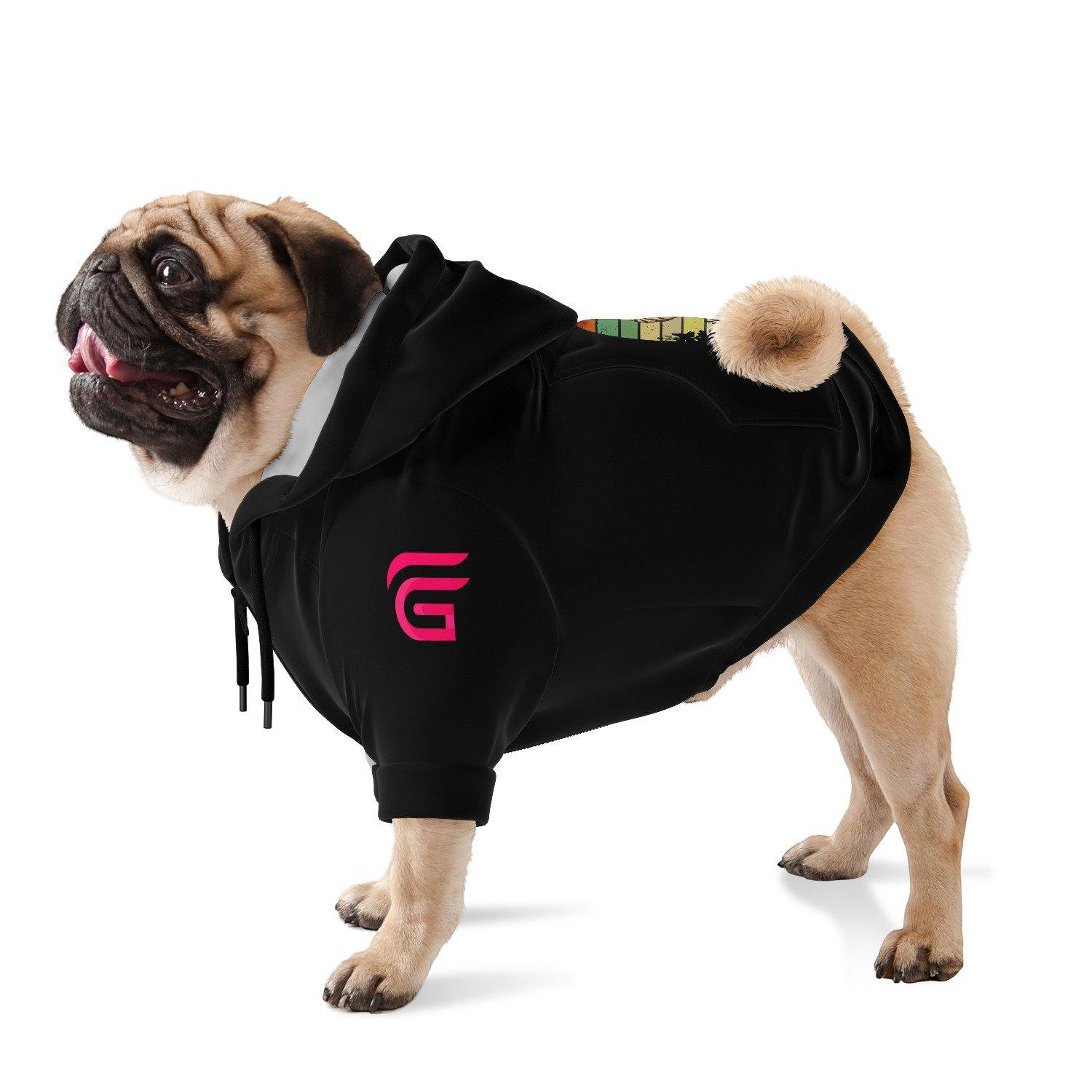 The Dood Fashion Dog Zip-Up Hoodie - AOP - Get Set Style Metro