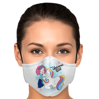 I Love Unicorn Face Mask With PM2.5 Carbon Filter - Get Set Style Metro