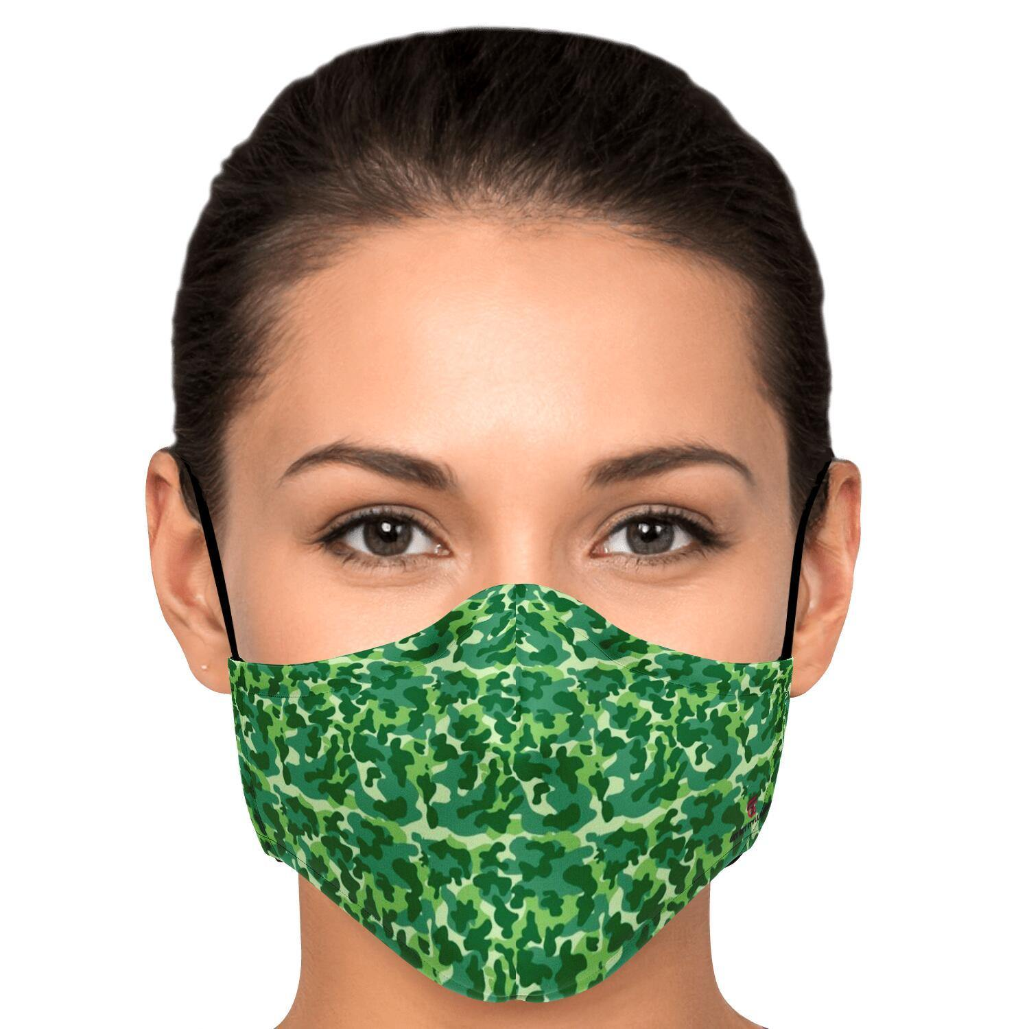 Green Camouflage Fashion Face Mask With PM2.5 Carbon Filter - Get Set Style Metro