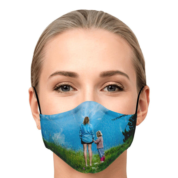Personalized Fashion Face Mask With PM2.5 Carbon Filter - Get Set Style Metro