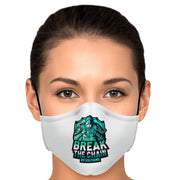 Break The Chain eSport Logo Fashion Face Mask With PM2.5 Carbon Filter - Get Set Style Metro