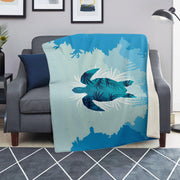 Sea Turtle Microfleece Blanket - Get Set Style Metro
