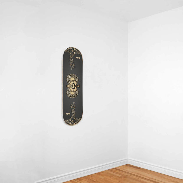 Custom Design Ace of Spades Skateboard Deck Wall Art - Get Set Style Metro