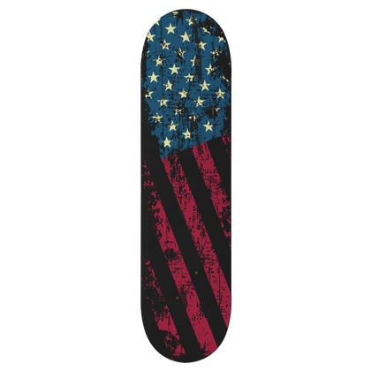 Custom Design American Flag Skateboard Deck Wall Art - Get Set Style Metro