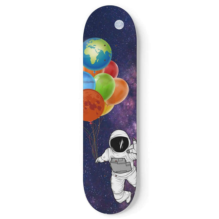 Custom Design Astronaut Skateboard Wall Art - Get Set Style Metro