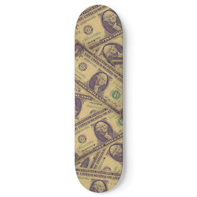 Custom Design Dollar Money Skateboard Deck Wall Art - Get Set Style Metro