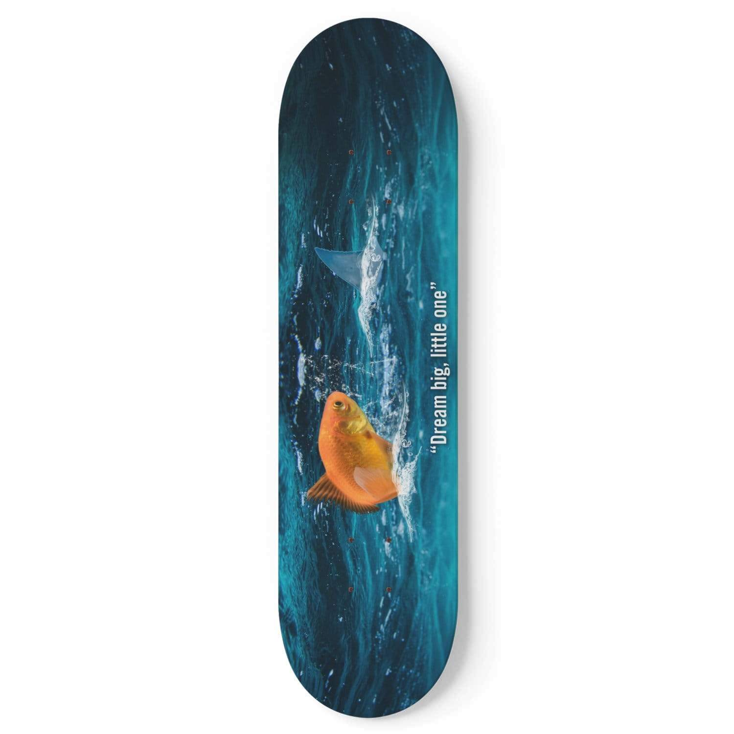 Custom Design Gold Fish Skateboard Deck Wall Art - Get Set Style Metro