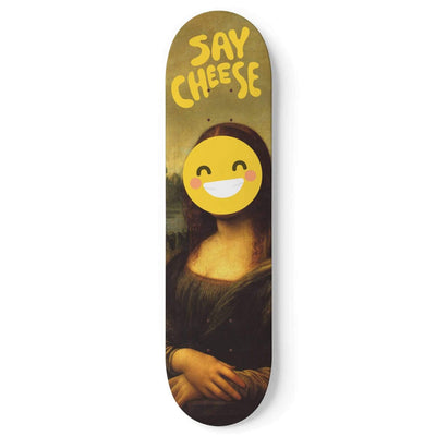Custom Design Mona Lisa Skateboard Deck Wall Art - Get Set Style Metro