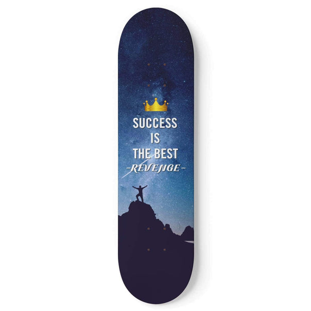 Custom Design Success Skateboard Deck Wall Art - Get Set Style Metro