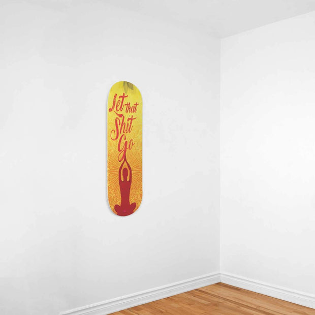 Custom Design Yoga Skateboard Wall Art - Get Set Style Metro