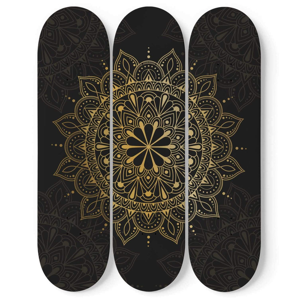 Custom Design Mandala Skateboard Wall Art - Get Set Style Metro