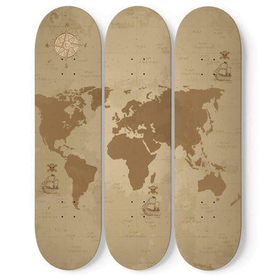 Custom Design Pirate Map Skateboard Wall Art - Get Set Style Metro