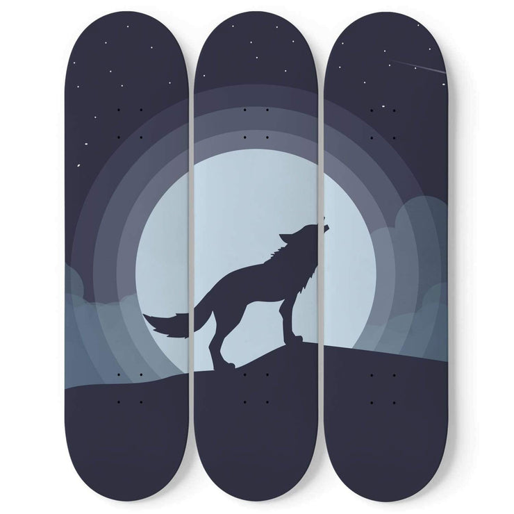 Custom Design Wolf Skateboard Wall Art - Get Set Style Metro