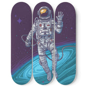 Personalized Designed Vector Cosmonaut Skateboard Decks Wall Art - Get Set Style Metro