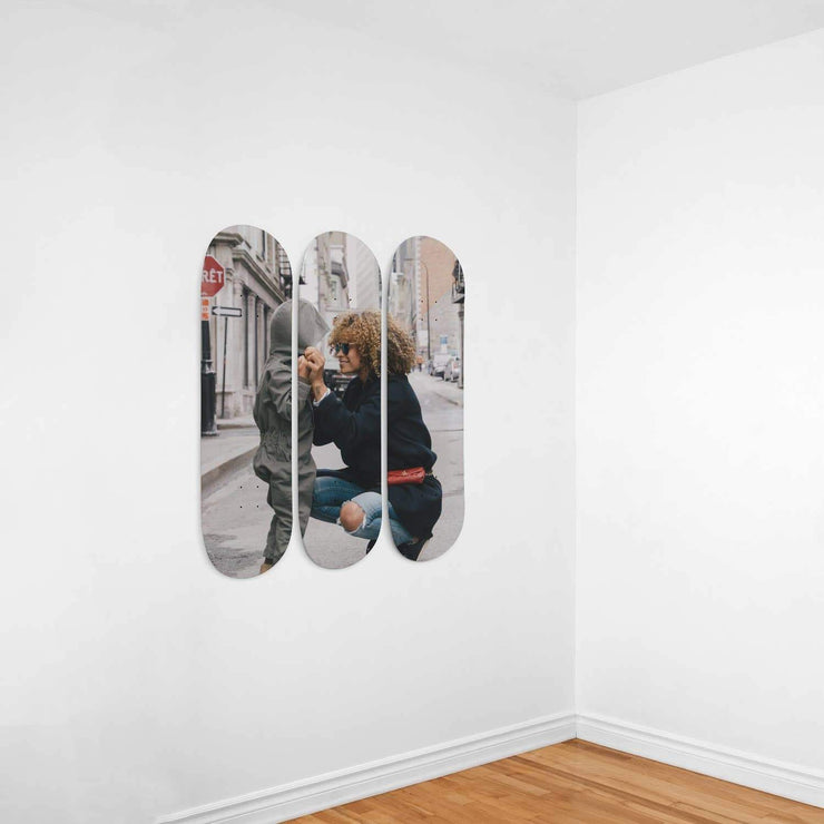 Personalized With Photo 3 Skateboard Decks Wall Art - Get Set Style Metro