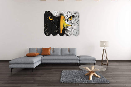 Custom Design Eagle Face Skateboard Decks Wall Art - Get Set Style Metro