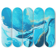 Custom Design Ocean Deep Skateboard Decks Wall Art - Get Set Style Metro