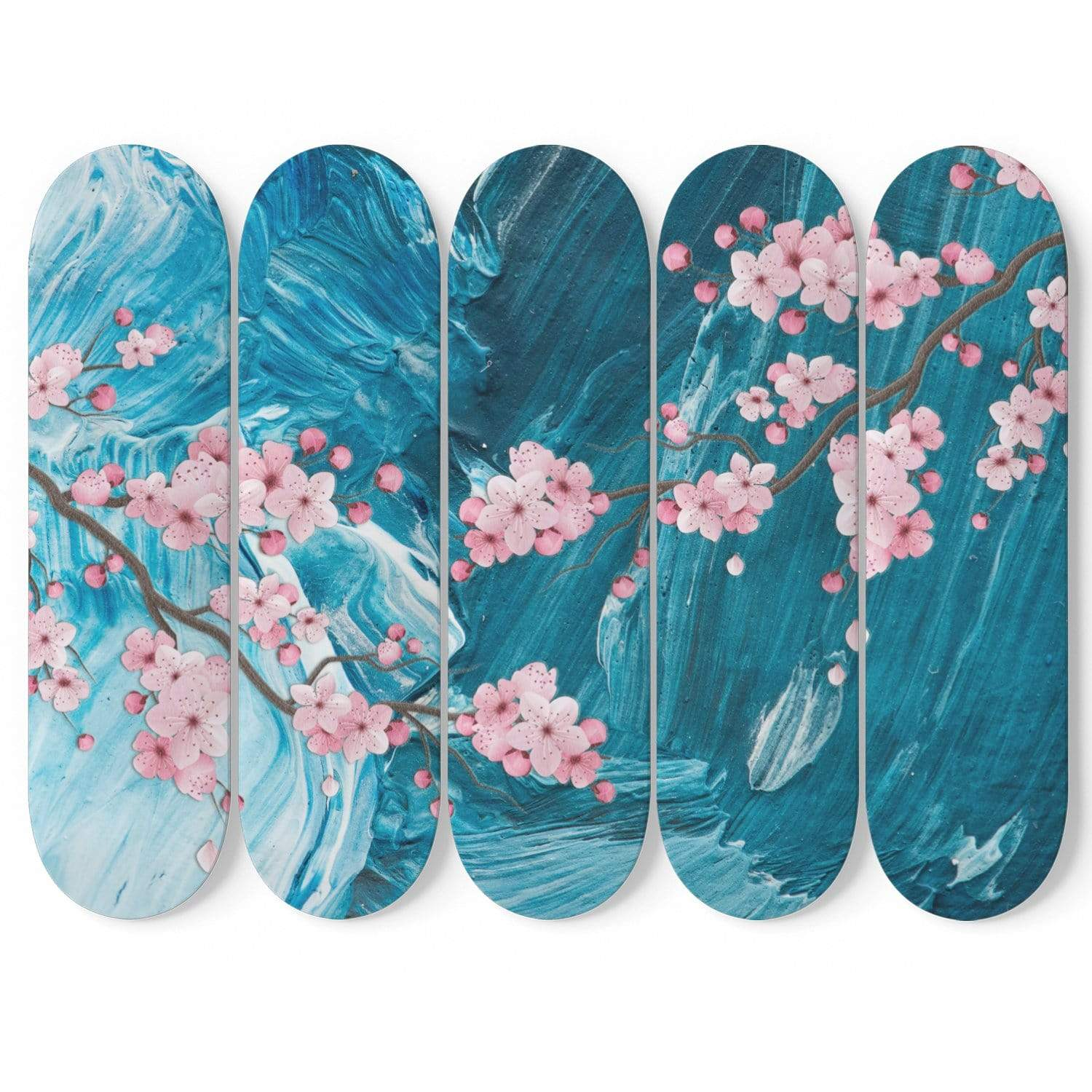 Custom Design Spring Flowers Skateboard Decks Wall Art - Get Set Style Metro