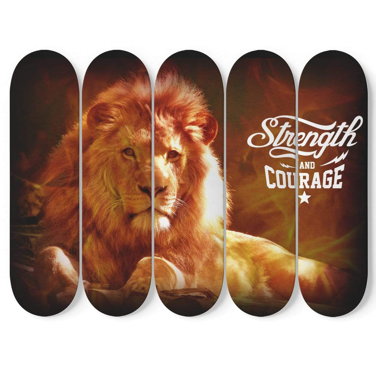 Custom Design Strength And Courage Skateboard Decks Wall Art - Get Set Style Metro