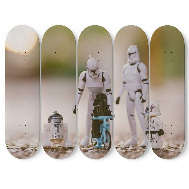 GetSetStyleMetro 5 Skateboard Wall Art Personalized Photo 5 Skateboard Decks Wall Art