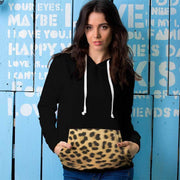 Leopard Brown Snow All Over Print Contrast Hoodie - Get Set Style Metro
