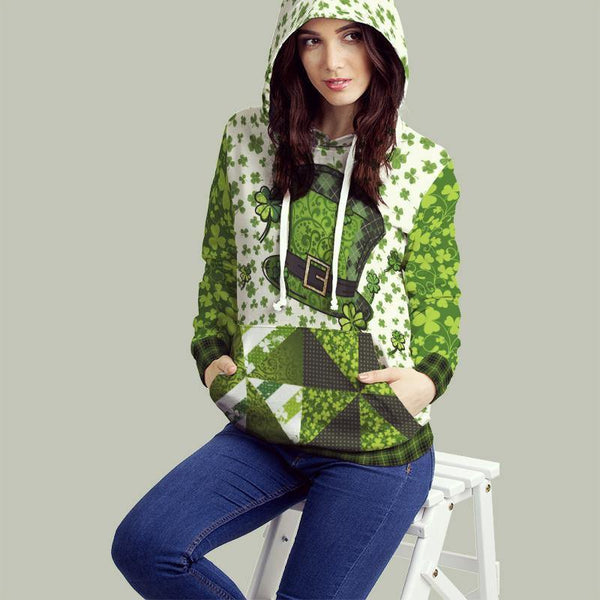 Awesome St. Patrick All Over Print Hoodie - Get Set Style Metro