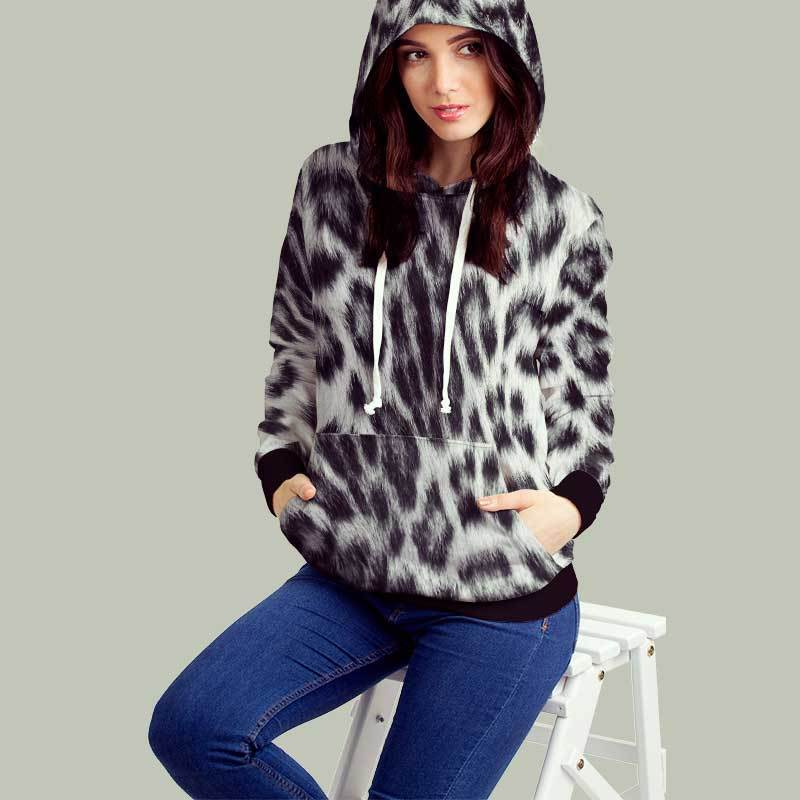 Leopard Black Snow All Over Print Hoodie - Get Set Style Metro